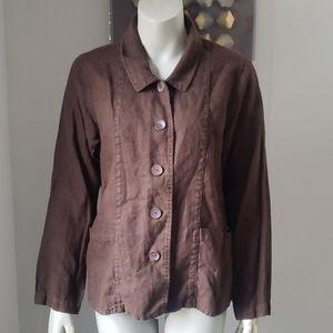 Flax Linen Button Down Shirt SzS